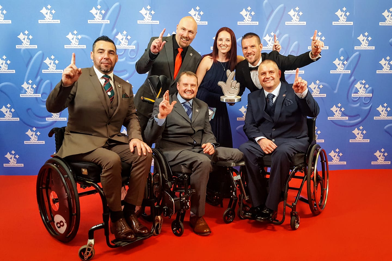 Group photo with award